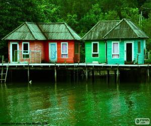 Stilt houses puzzle