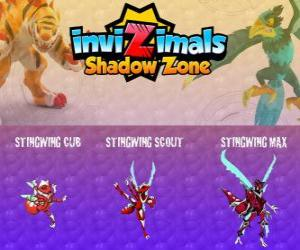 Stingwing Cub, Stingwing Scout, Stingwing Max. Invizimals Shadow Zone. The first  Invizimal captured by Kenichi, an attractive and dangerous insect puzzle