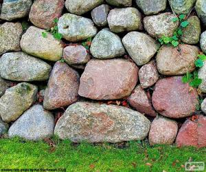 Stone garden wall puzzle