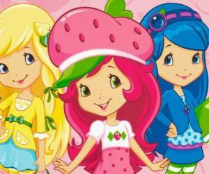Strawberry Shortcake with her friends puzzle