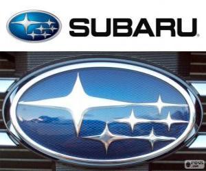 Subaru logo, Japanese car brand puzzle
