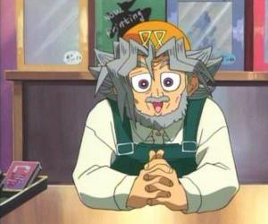 Sugoroku Muto or Solomon Muto is Yugi's grandfather and the owner of a board games shop  puzzle