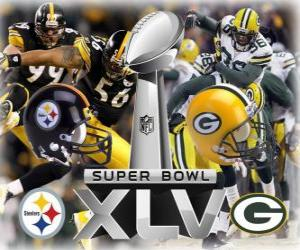 Super Bowl XLV - Pittsburgh Steelers vs Green Bay Packers puzzle