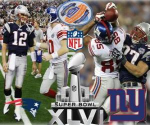 Super Bowl XLVI - New England Patriots vs New York Giants puzzle