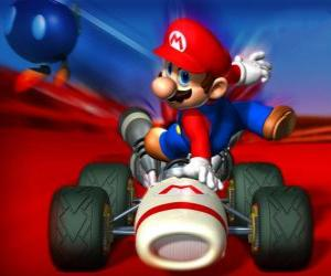 Super Mario Kart is a racing game puzzle