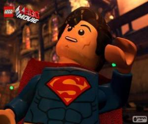 Superman, a superhero from the movie Lego puzzle