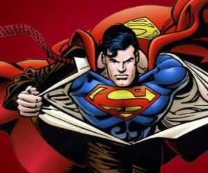 Superman drawing puzzle