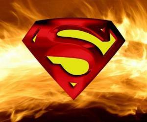 Superman logo puzzle