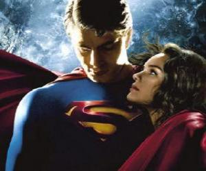 Superman  with Lois Lane, reporter and his true and great love puzzle
