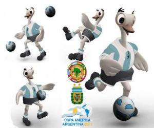 Suri mascot of the Copa America, Argentina 2011, a common rhea, is also often called American Ostrich puzzle