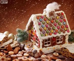 Sweet and pretty a gingerbread house puzzle