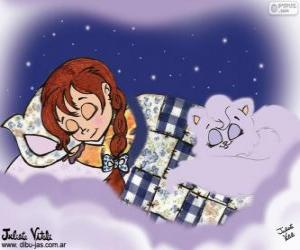 Sweet dreams. Drawing of Julieta Vitali puzzle