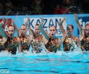 Synchronized swimming puzzle