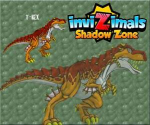 T-Rex. Invizimals Shadow Zone. The mighty T-Rex is an Invizimal dinosaur puzzle