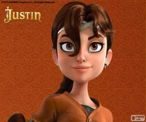 Talia is the fellow adventurer Justin puzzle