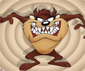 Taz, the Tasmanian devil puzzle