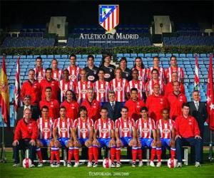 a2895ec7e8961 Team of Atlético de Madrid 2008-09 puzzle   printable jigsaw