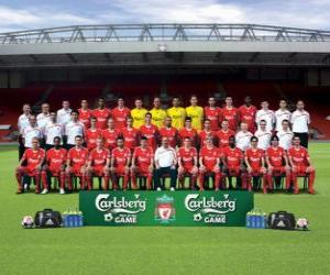 Team of Liverpool F.C. 2009-10 puzzle