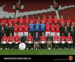 Team of Manchester United F.C. 2008-09 puzzle