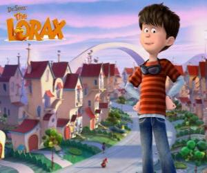 Ted Wiggins, an idealistic 12 years-old boy, the main protagonist of the Lorax movie puzzle
