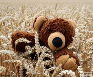 Teddy bear, cereals puzzle
