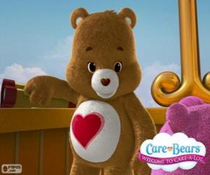 Tenderheart Bear, the little bear with a heart over the belly puzzle