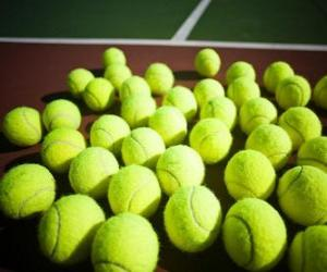 Tennis balls on the court puzzle