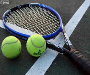 Tennis Racket And Balls puzzle