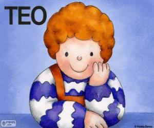 Teo, a character from the Violeta Denou children's books puzzle