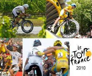 The 2010 Tour de France: Alberto Contador and Andy Schleck puzzle