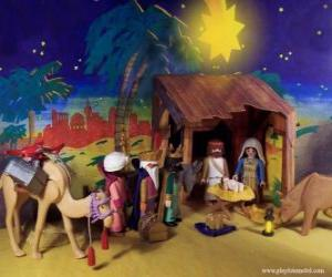 The Adoration of the Magi from the East to the Infant Jesus puzzle