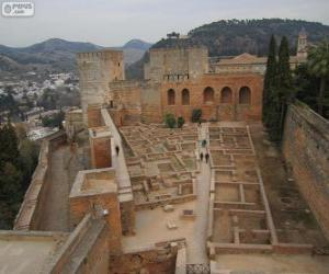 The Alcazaba de la Alhambra, Granada, Spain puzzle