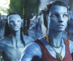 The avatar na'vi of Dr. Grace Augustine puzzle