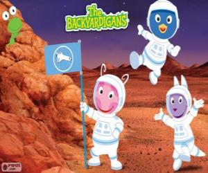 The Backyardigans astronauts have arrived at Mars puzzle
