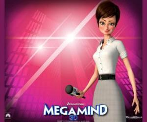 The beautiful reporter Roxanne Ritchi from who is in love Megamind puzzle