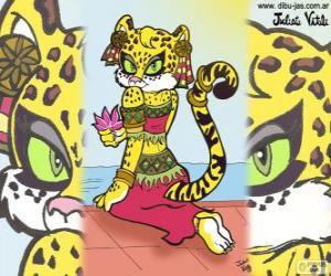 The beautiful tigress. Drawing of Julieta Vitali puzzle
