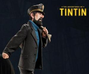 The Captain Archibald Haddock is Tintin's best friend puzzle