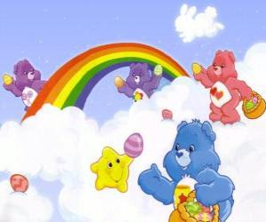 The Care Bears live in a place far away in the clouds puzzle