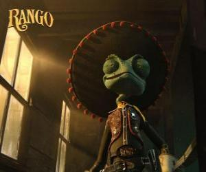 The Chameleon Rango believed to be a hero and self-proclaimed sheriff of Dirt puzzle
