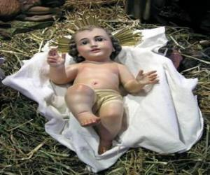 The Child Jesus in the manger puzzle