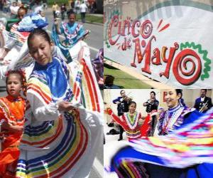 The Cinco de Mayo is celebrated on May 5 in Mexico and the United States to commemorate the 1862 Battle of Puebla puzzle