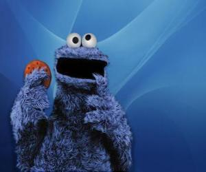 The Cookie Monster is eating a cookie puzzle