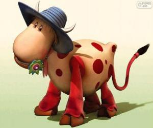 The cow Ermintrude, one of the characters from The Magic Roundabout puzzle