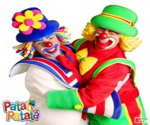 The embrace of the clowns Patatí and Patatá puzzle