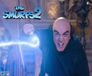 The evil wizard Gargamel puzzle