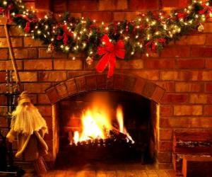 The fire lit on Christmas Eve puzzle