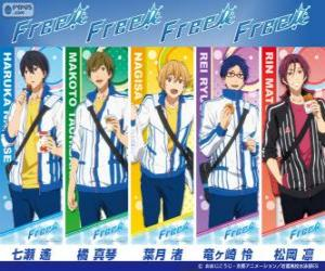 The five main characters of Free,Iwatobi Swimmming Club puzzle