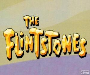 The Flintstones logo puzzle