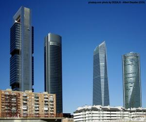 The four towers of Madrid puzzle