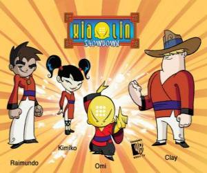 The four Xiaolin warriors: Raimundo, Kimiko, Omi and Clay puzzle